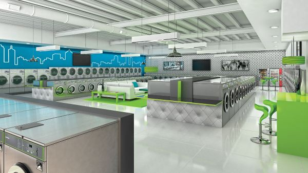 Huebsch Clean Laundromat Startup for Investors with a vision